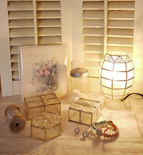 画像1: カピス貝ランプ(20W)☆アジアンインテリア 店舗 子供部屋 ランプ 間接照明 (1)