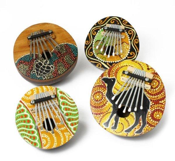 画像1: ココナツカリンバ(彫り)アボリジニ民族楽器 (1)