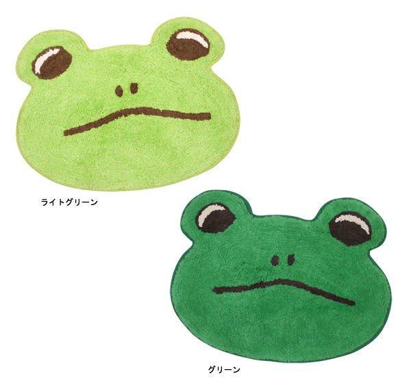 画像1: クルフィマット カエル 蛙 可愛いフェイスマット インテリア 子供部屋/玄関マット/キッチンマッバスマットト/ (1)