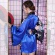 画像7: サテンミニ着物ドレス 和柄 花魁風 よさこい 衣装 コスプレ パーティー キャバドレス (7)