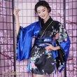 画像6: サテンミニ着物ドレス 和柄 花魁風 よさこい 衣装 コスプレ パーティー キャバドレス (6)