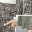 画像3: グレンチェック柄 スカート レディース フレアスカート Aライン ハイウエスト 厚手 スカート (3)