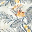 画像6: のれん エルバ 極楽鳥花 インテリア雑貨 ハワイアン柄 暖簾 間仕切り 店舗装飾 カフェ (6)