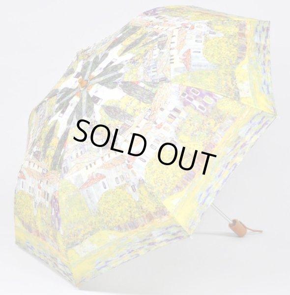 画像1: 【折りたたみ傘】クリムト ドナウ河沿 名画シリーズ  絵画  傘 雨具 (1)