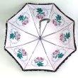 画像2: 【フリル傘】ピエールジョセフ ローズピンク 花柄 長傘 絵画 (2)