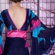 画像7: フラワーロング着物ドレス 和柄 衣装 ダンス よさこい 花魁 コスプレ キャバドレス (7)