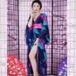 画像2: フラワーロング着物ドレス 和柄 衣装 ダンス よさこい 花魁 コスプレ キャバドレス (2)