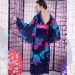 画像3: フラワーロング着物ドレス 和柄 衣装 ダンス よさこい 花魁 コスプレ キャバドレス (3)