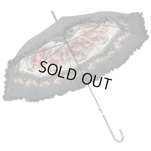 画像1: 【ANGELIQUE SPICA】晴雨兼用ジャンプパゴダ傘・エルスカローズ 薔薇 雑貨 レディース小物 (1)