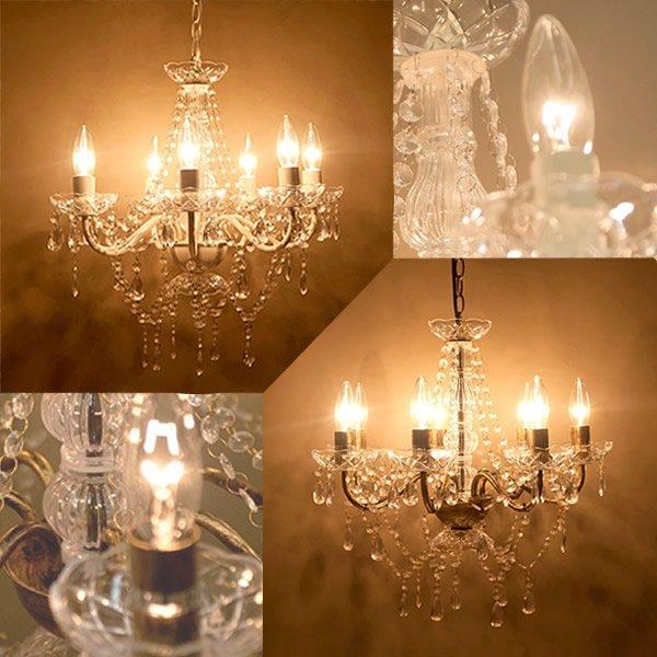 画像1: LED電球対応 7灯シャンデリア アンティーク調 天井照明 インテリア (1)