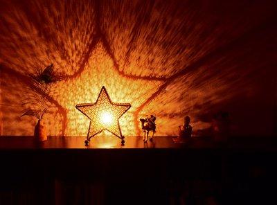 画像1: バリランプ ビンタン ★ 星 BALI アジアン インテリア 間接照明 ライト バンブー 竹 幻想的 癒し 抗鬱