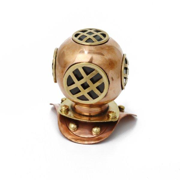 画像1: ダイビングヘルメット 真鍮製 ブラス アンティーク マリンインテリア雑貨 スキューバ (1)