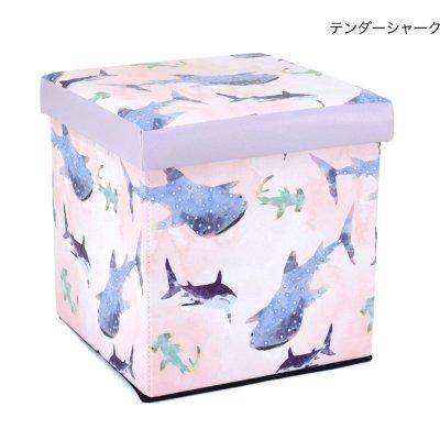 画像3: 収納BOXスツール アニマル 動物 ジンベイザメ クジラ 小物入れ おもちゃ箱 インテリア 椅子 オットマン 耐荷重100kg
