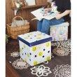画像3: 収納BOXスツール スマイル ニコチャン 小物入れ おもちゃ箱 片付け インテリア イス チェア 耐荷重100kg (3)