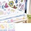 画像1: 【送料無料】カフェカーテン【ブロンマ】キッチン小窓 オパール加工 花柄 インテリア雑貨 (1)