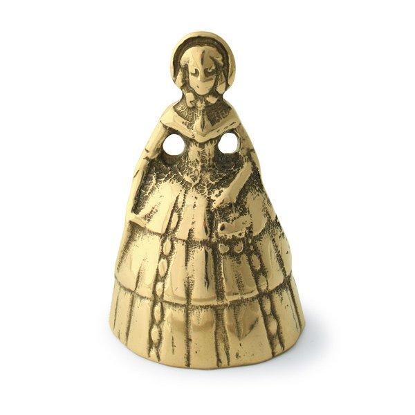 画像1: イタリアブラス レディベル 真鍮 ブラス 置物 オブジェ かなり良い音です 店舗 呼び鈴 (1)