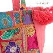画像13: カンバディアパッチ トートバッグ インド 伝統柄 パッチワーク アジアン雑貨 小物 (13)