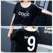 画像5: 大きいサイズ ドルマン N9プリント COCOロゴ HOLLYWOOD大人気 Tシャツ F 4L~6L (5)