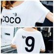 画像9: 大きいサイズ ドルマン N9プリント COCOロゴ HOLLYWOOD大人気 Tシャツ F 4L~6L (9)