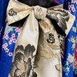 画像10: サテン和柄フリルロング着物ドレス 衣装 ダンス よさこい 花魁 コスプレ キャバドレス (10)