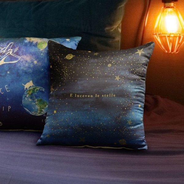 画像1: クッションカバー ステラ 星空 星柄 子供部屋 インテリア小物 雑貨  (1)
