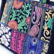 画像5: カンバディアパッチ トートバッグ インド伝統柄 刺繍 エキゾチック 鞄  (5)