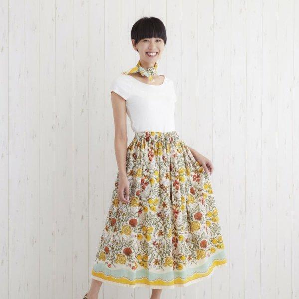 画像1: 【PORINA】スカート ボーノ トマト柄 可愛いマキシ丈 スカート アジアン衣料 エスニック ロング (1)