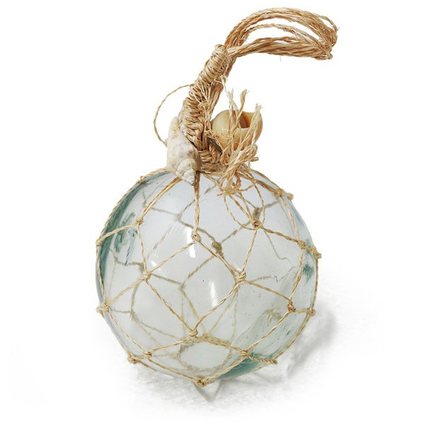 画像1: うきだま L ガラス 浮き玉 マリンテイスト ディスプレイ ハワイアン インテリア雑貨 (1)