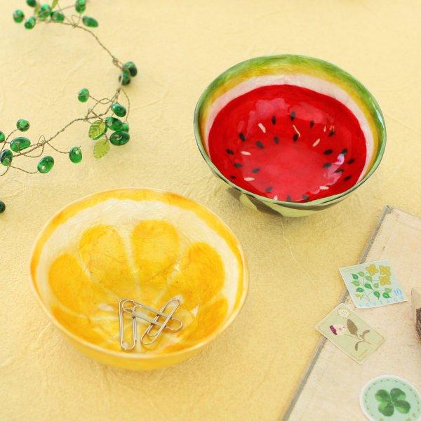 画像1: 果物デザイン カピスボウル  小物入れ ジューシー カットフルーツ  食器 プレート お皿 可愛い キッチン雑貨  (1)
