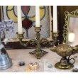 画像7: ザマック キャンドルホルダーL  真鍮製 インテリア雑貨  アンティーク調 ヨーロピアン ディスプレイ コレクション (7)