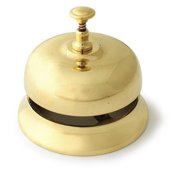 画像1: イタリアブラス テーブルベル  真鍮製 クラシカル 呼び鈴 インテリア雑貨  アンティーク調 ヨーロピアン (1)