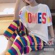 画像1: ルームウェア2点セット レディース 半袖 パジャマ セットアップ カラフル 部屋着 上下セット ゆったり ナイトウエア リラックス (1)